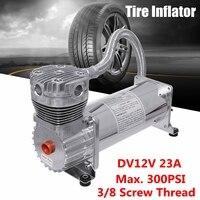 12 В в Max 300 psi одиночный воздушный компрессор Ride комплект для пневматической подвески компрессор шиномонтаж хром
