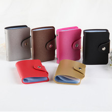 PU leather function 24 business card holder ladies mens credit passport ID bag wallet