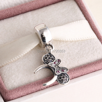 Suitable For Pandora Style Bracelets Spring 2015 New Minnie Headband Dangle Charms With Cz 925 Sterling