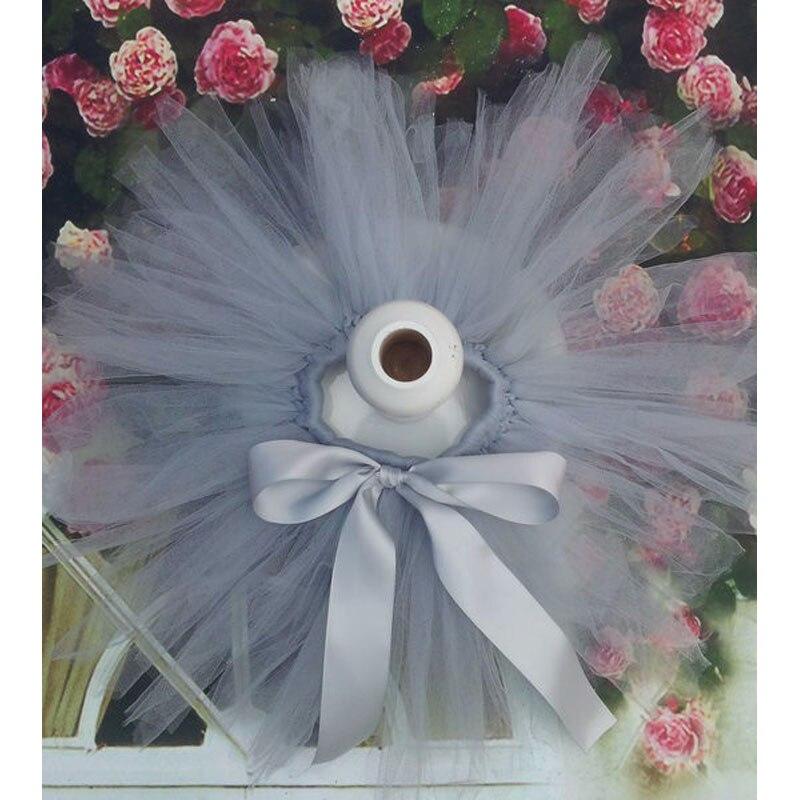 Лидер продаж; фатиновая юбка-пачка для маленьких девочек и повязка на голову с цветами; Комплект для новорожденных; реквизит для фотосессии; подарок на день рождения; 10 цветов; ZT001 - Цвет: only skirt grey