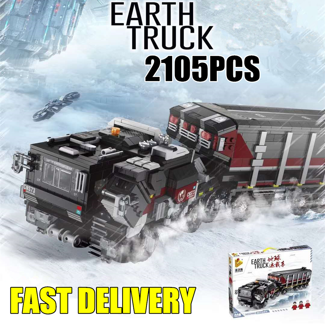 New 2105Pcs The Wandering Earth Truck Movie fit swat military figures Building Blocks Bricks Car Toys