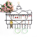 Hot sell fashion earring display holder Wrought iron earrings frame on the wall Receive earrings jewelry jewelry display shelf