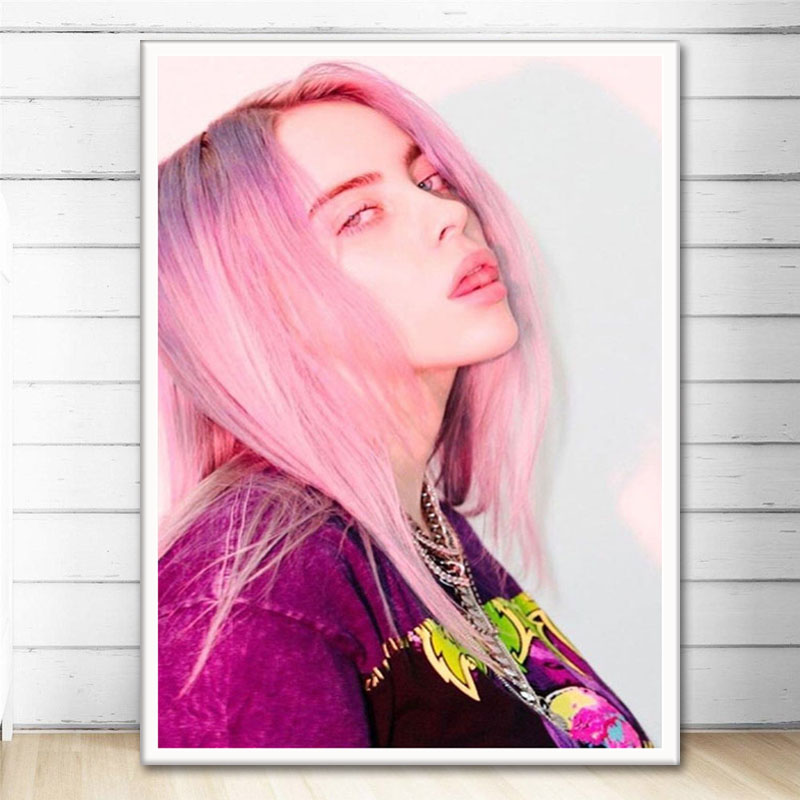19K Billie Eilish Music Album Dont Smile at Me Star 3 Print Art Silk Poster