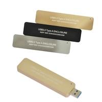 B+M key M2 SATA SSD Enclosure USB 3.0 to M.2 SSD Case USB3.0 to NGFF B KEY adapter Retractable switch Mini Portable Box
