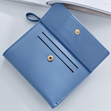 Women's Stylish Short Colorful Leather Wallet