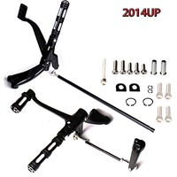 Gloss Black Forward Controls Edge Cut Pegs Levers Linkages For Harley Sporster XL 883 1200 2014 2017