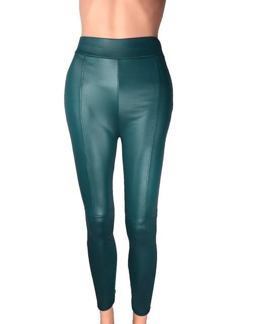 Big Sale ! 2014 New Trend Knitting women's Nine minutes pants Fashion sexy Imitation leather slim PU elastic leggings 2 Colors 10