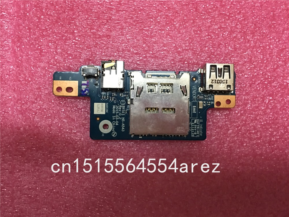 Original FOR Lenovo Y700-17ISK Audio Jack Card Reader USB Board NS-A543 genuine original audio usb board for lenovo yoga 2 pro 13 series ns a071 rev 2 0 kona svt