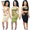 Sexy Club Dress 2016 Women Summer Dress 2 Piece Set  Plus size Women Clothing  Black Sexy Vintage  Bandage Bodycon Dresses