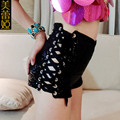 New Fashion 2016 High Waist Female Summer Shorts Sexy Fashion Women Sequin Shorts Black Slimming Short Jeans Cool Black