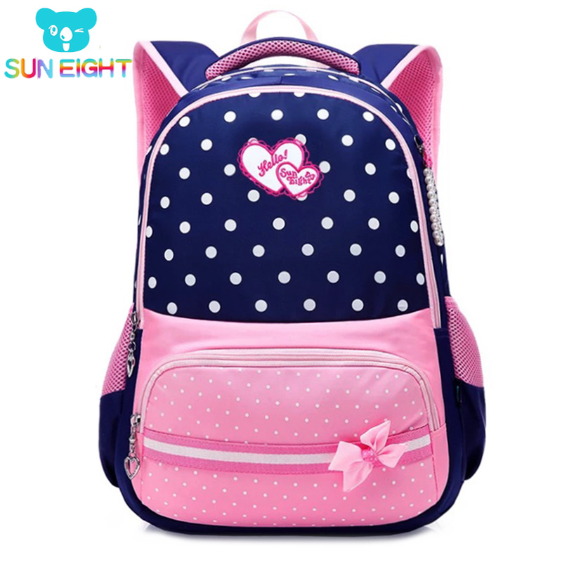 SUN EIGHT New 2018 School Bags for Girls Brand Women Backpack Cheap Shoulder Bag Wholesale Kids Backpacks Fashion
