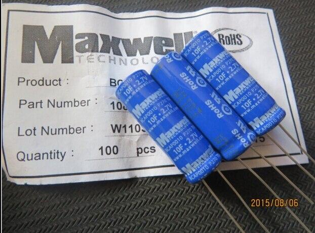 Maxwell супер Конденсаторы, Фарад capaitors 2.7 В 10f 10*31.5 мм ...