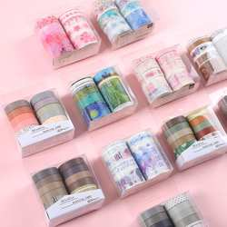 JIANWU 10 шт./компл. милые основной цвет лента для скрэпбукинга Washi рукоделие изоляционная лента школьные канцелярские магазин пуля журнал