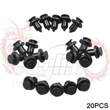 New 20pcs Plastic Car Front Rear Bumper Auto Car Rivet Black Fastener Bumper Clip Push Retainer Screw Fender FOR Honda(China)