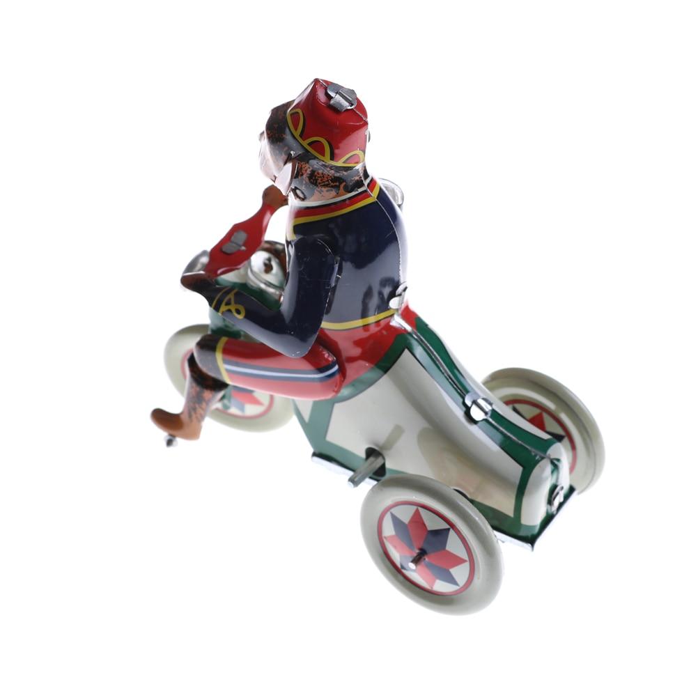 Vintage Wind Up Circus Monkey Riding A Car Clockwork Tin ...