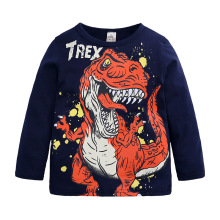 Kids 2-7Years Cartoon Dinosaur Children Boys pullover Spring Autumn 2019 New Clothes Tee T Shirts