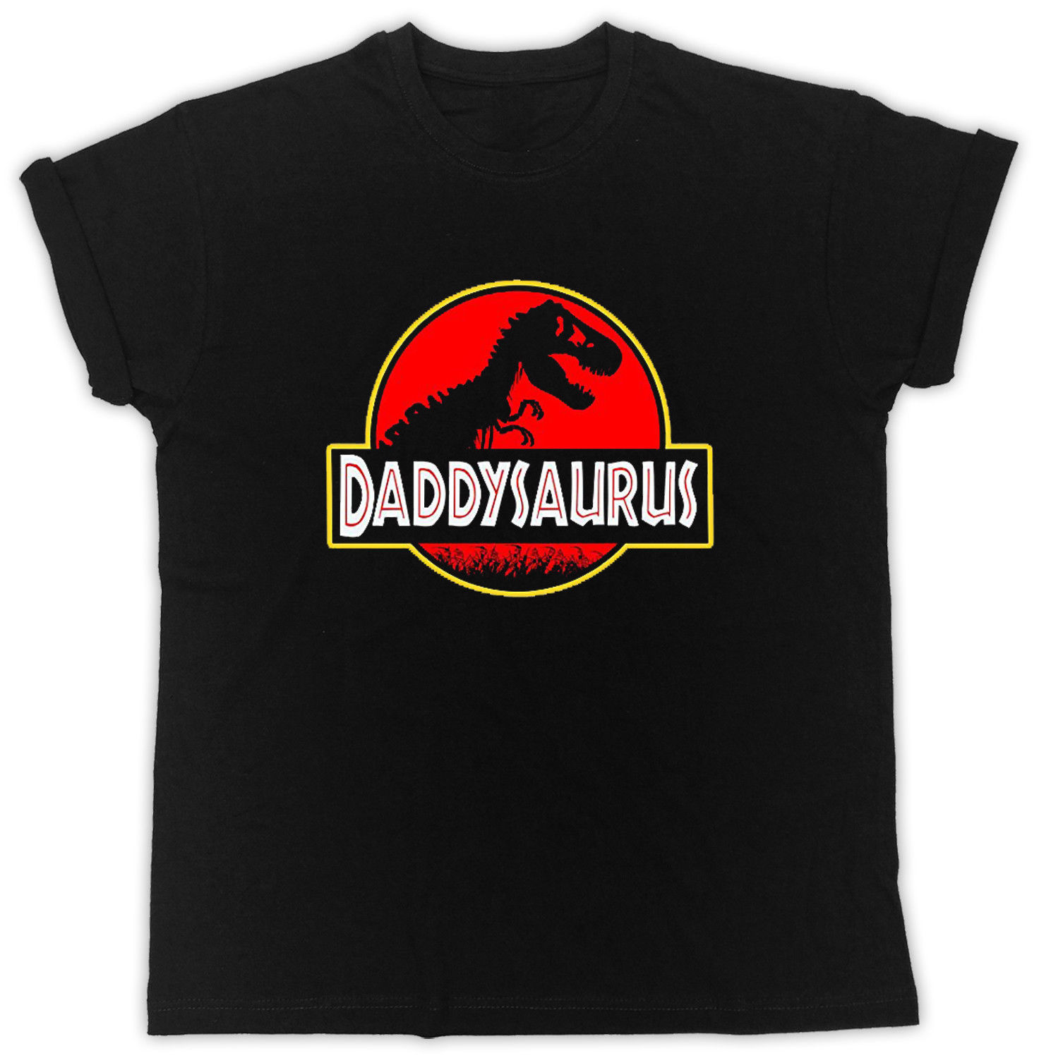 Fathers Day T-Shirt Dad T-Rex Old Dinosaur Ideal Gift Present Unisex T Shirt 100% Cotton Short Sleeve O-Neck Top Tee
