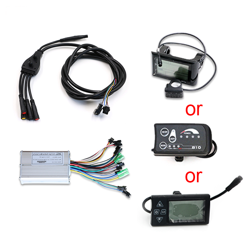 Best Free Shipping 36V 48V ebike Motor No Battery 250W 350W 500W 1000W Powerful Electric Bike kit LED LCD Display bldc controller MTB 3