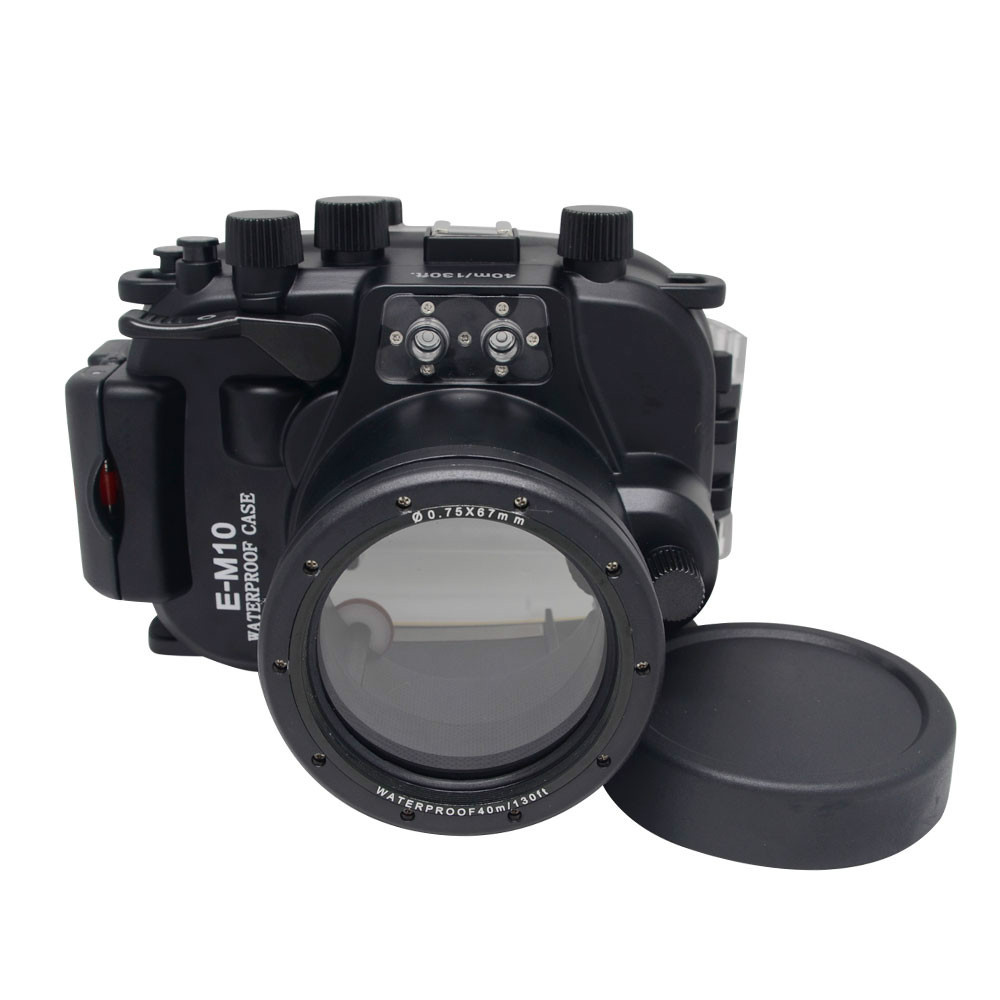 Meikon 40 Meters(130ft) Underwater Case Camera Housing Diving Bag for Olympus E-M10 EM10 14mm- 42mm Lens