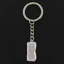 Keychain 14*31mm computer keyboard Pendants DIY Men Jewelry Car Key Chain Ring Holder Souvenir For Gift(China)