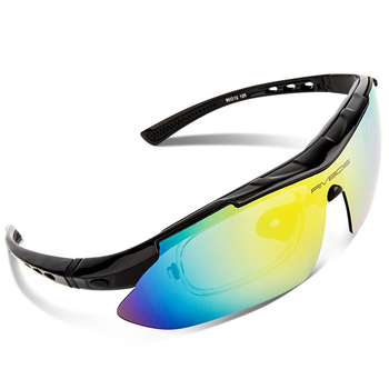 RIVBOS 2019 New Men Women Goggles Polarized Sunglasses with 5 Set Interchangeable Lenses Shatterproof Flexible Lens Eyewear