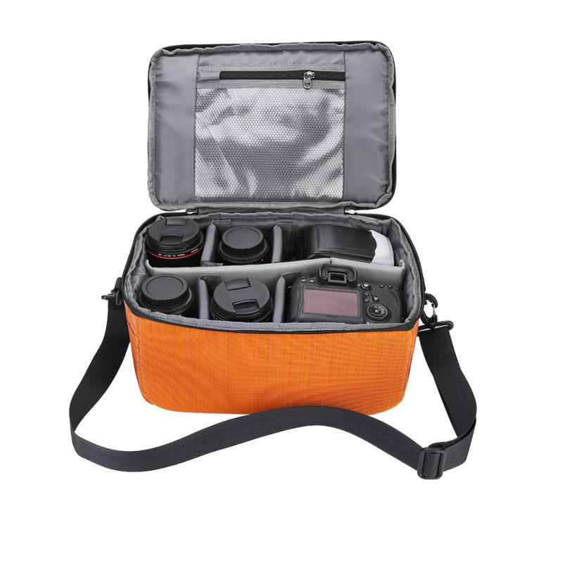 برتقالي مقاوم للماء واقية إدراج التقسيم مقبض حقيبة كاميرا الحقيبة الحقيبة