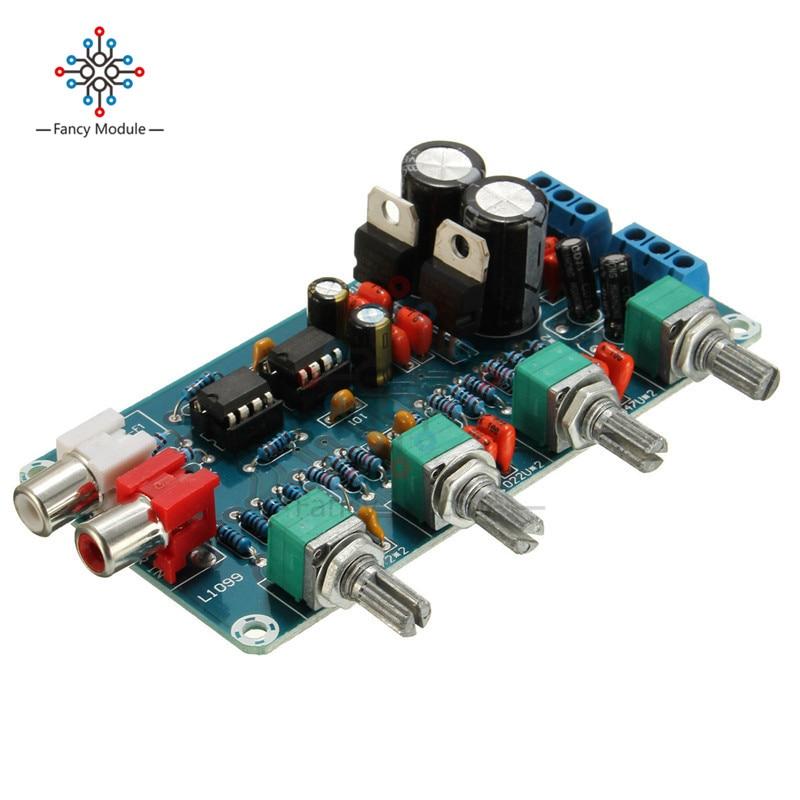 New Arrival NE5532 OP-AMP HIFI Amplifier Preamplifier Volume Tone EQ Control Board DIY Kits new arrival ne5532 op amp hifi amplifier preamplifier volume tone eq control board diy kits free shipping