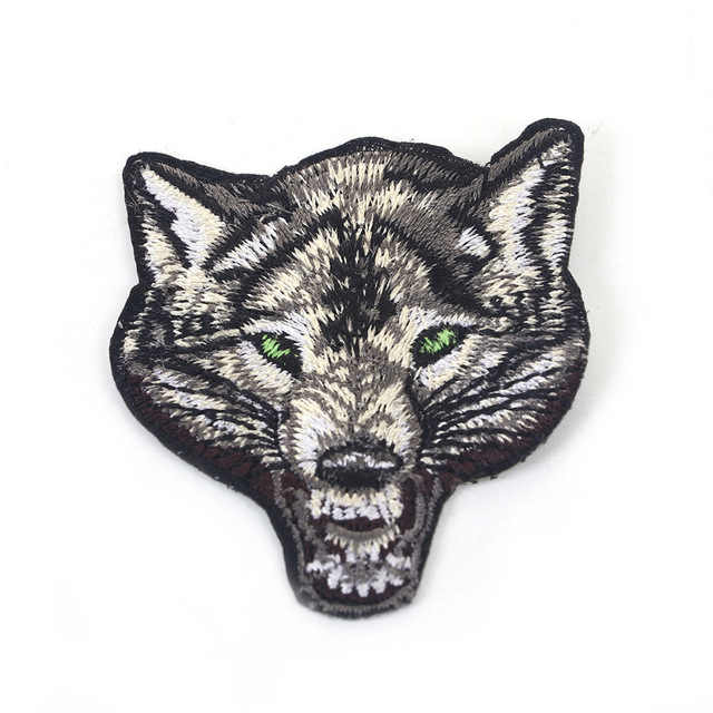 1 шт., аппликационная нашивка с вышивкой волка и животных, нашивки с железом для мальчиков, Мужская одежда, футболки, штаны, джинсовые пальто, поделки своими руками
