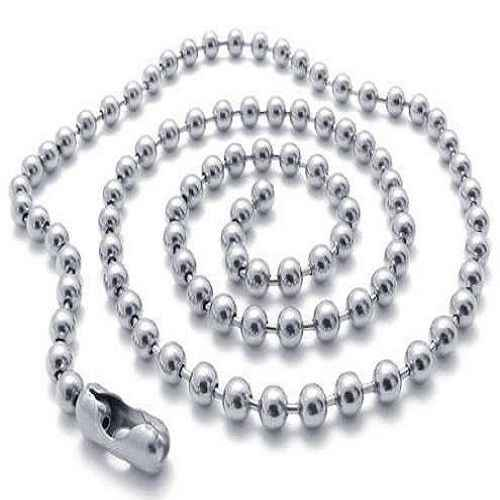 1.5/2/2.4/3/4/5/6/8mm * 40 cm-100 cm de aço inoxidável cão tag correntes prata tom medalhão charme pingente corrente colar chaveiros