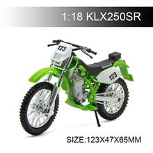 Maisto 1:18 Motorcycle Models Kawasaki KLX250SR KLX Diecast Plastic Moto Miniature Race Toy For Gift Collection