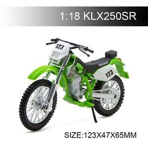 Image 1 - Maisto 1:18 Motorcycle Models Kawasaki KLX250SR KLX Diecast Plastic Moto Miniature Race Toy For Gift Collection