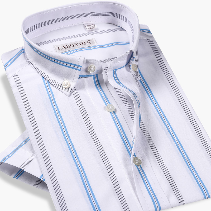 GREVOL Summer Brand New <font><b>Shirt</b></font> Arrived 100% Cotton <font><b>Men</b></font> <font><b>Shirts</b></font> <font><b>Short</b></font> <font><b>Sleeve</b></font> Casual <font><b>Striped</b></font> Homme <font><b>Men</b></font> Fashions Fashion <font><b>Shirt</b></font> image