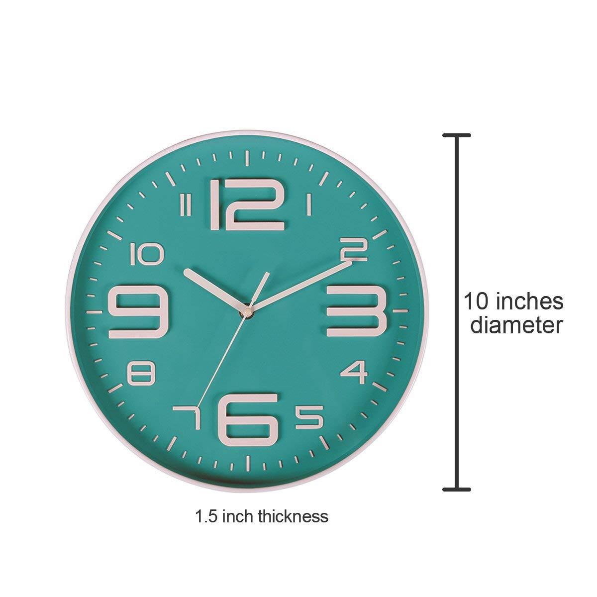 Aliexpress Buy Indoor Big 3d Number Silent Wall Clock Quiet