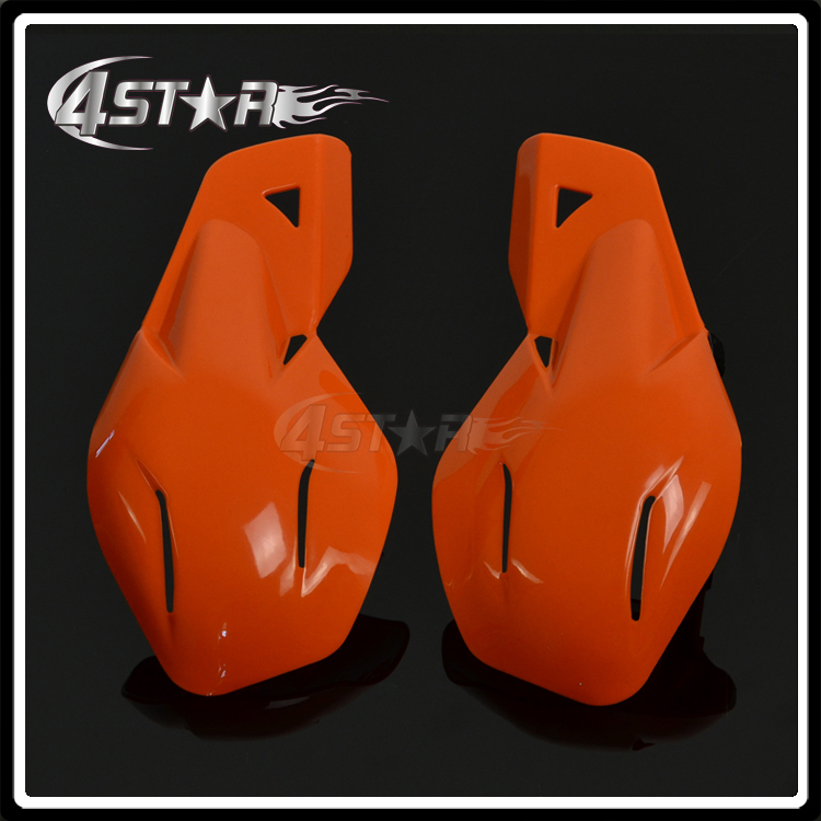 Orange Plastic 22mm Or 28mm Handlebar Hand Guards Handguards For Motorcycle KTM EXC Dirt ...