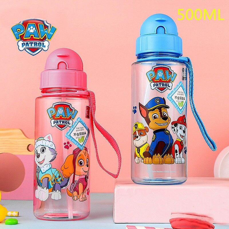 Genuine Paw Patrol Baby Kids Children School Drinking Water Straw Tritan Bottle PUPPY PATROL Suction Cup 500ML KIDS Best Toy