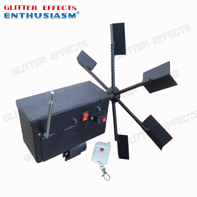 ELT01R Single Wheel Remote Control Stage Spinning Cold Fountain Fire Wedding Machine