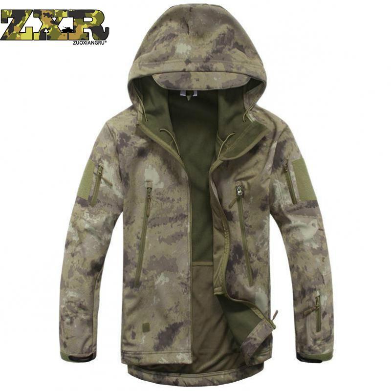 Lurker Shark Army Camouflage Coat Military Tactical Jacket Men Soft Shell Waterproof Windproof Jacket Coat Plus Size Raincoat