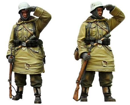 <font><b>1</b></font>/<font><b>35</b></font> <font><b>Resin</b></font> Figure WWII <font><b>German</b></font> Grenadier 1pc <font><b>Model</b></font> Kits image