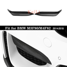 1 Pair M3 F80 Carbon Fiber Corner Splitter Up MP Style For BMW F82 M4 F83 2014 - in