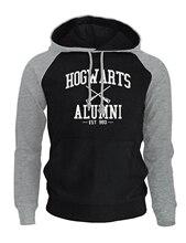 2018 New Arrival Hoodies Men Print HOGWARTS ALUMNI Fashion Autumn Winter Fleece Men's Sweatshirt Harajuku Brand K-pop Clothing