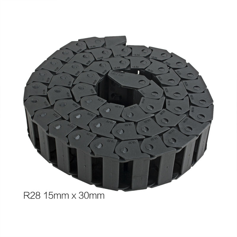 UXCELL Hot Sale 1M 15x30mm R28 Plastic Cable Drag Chain Wire Carrier with End Connector for 3D Printer CNC Router Machine Tool 15mm x 40mm r28 plastic cable drag chain wire carrier with end connector length 1m for 3d printer cnc router machine tools