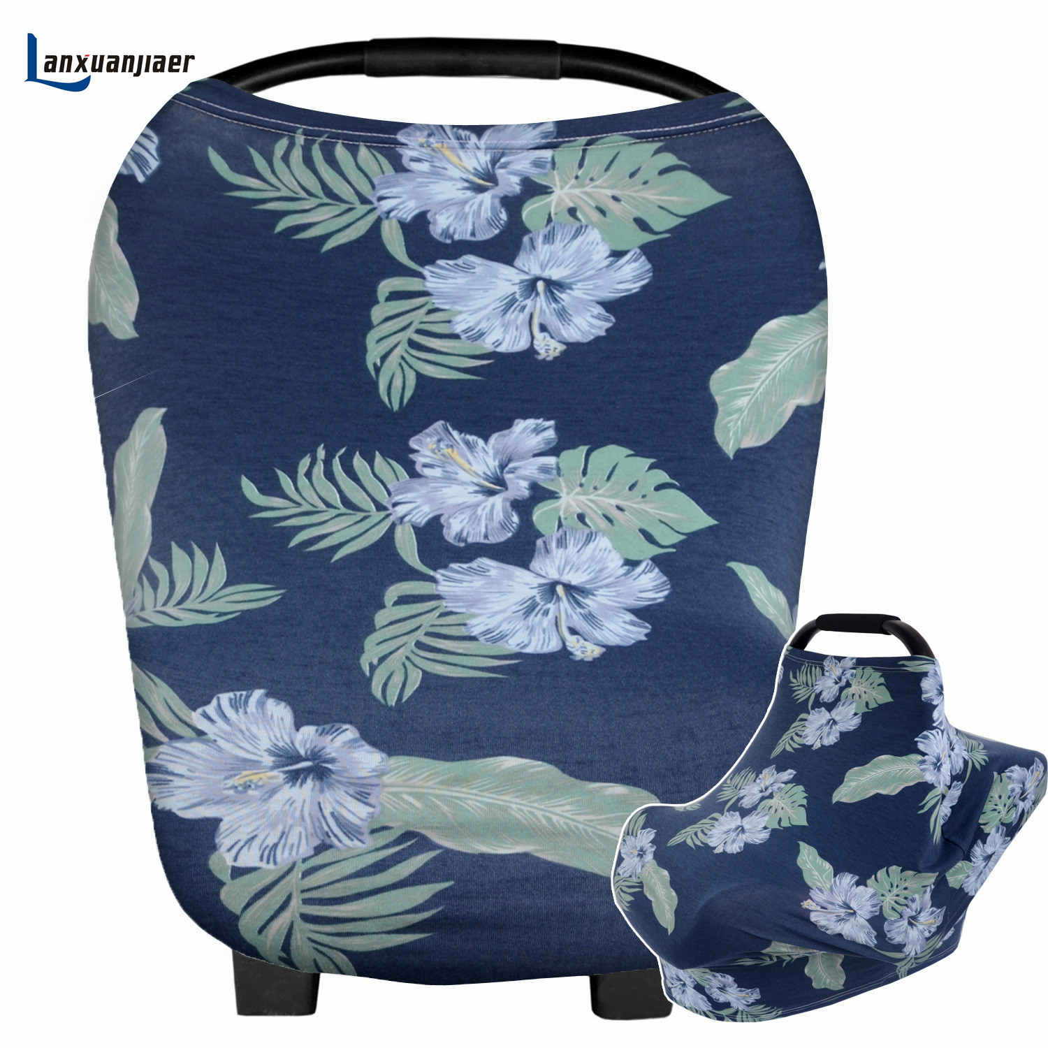 Lanxuanjiaer Multi-Use nursing Cover Stretchy Baby Shower Gift for mum mother Nursing Breastfeeding Scarf Car Baby Seat Cover