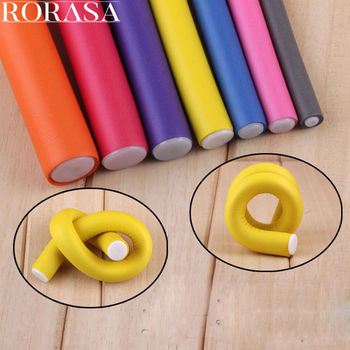 10 pcs Magic Hair Curlers Rollers Soft Foam Bendy Hair Rollers DIY Hair Styling Tool Hair curler modeler Spiral Roller Curlers