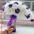 2017 Brides Royal Touch Rose Wedding Flowers Teardrop Impressive Wedding Bouquet Bridal Bouquet With Diamonds & Pearls