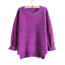 SUOGRY Women Knitted Round neck weater Female Solid Collar Pullovers Warm 2018 New Arrival