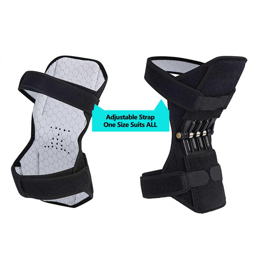 非スリップ合同サポート膝パッド電源膝パッドケア強力なリバウンド春力膝ブースター登山深いケア