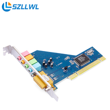 CMI8738 PCI 4.1 канала аудио компьютер независимая звуковая карта поддержка WIN7 32/64 бит  настольный компьютер звуковая карта