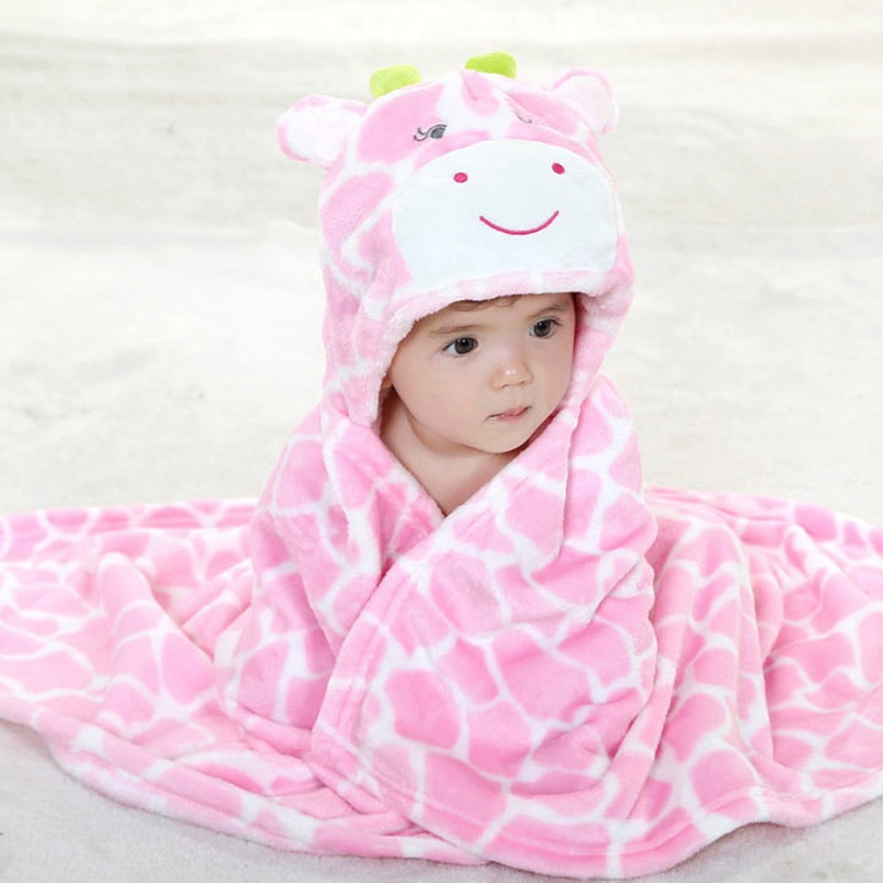 new 3D Cartoon coral fleece baby blanket infant cloak baby envelope stroller wrap newborns baby bedding Swaddle 76*92cm