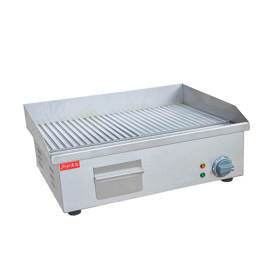 ФОТО 1pcs FY-821A ,Stainless steel flat and grooved electric griddle, grooved electric fried pans
