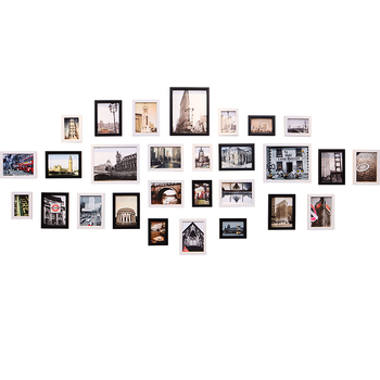 Modern Photo Frame For Wedding Decoration White & Black Frame For Picture Combination Wall Hanging Photo Frames For Living Room